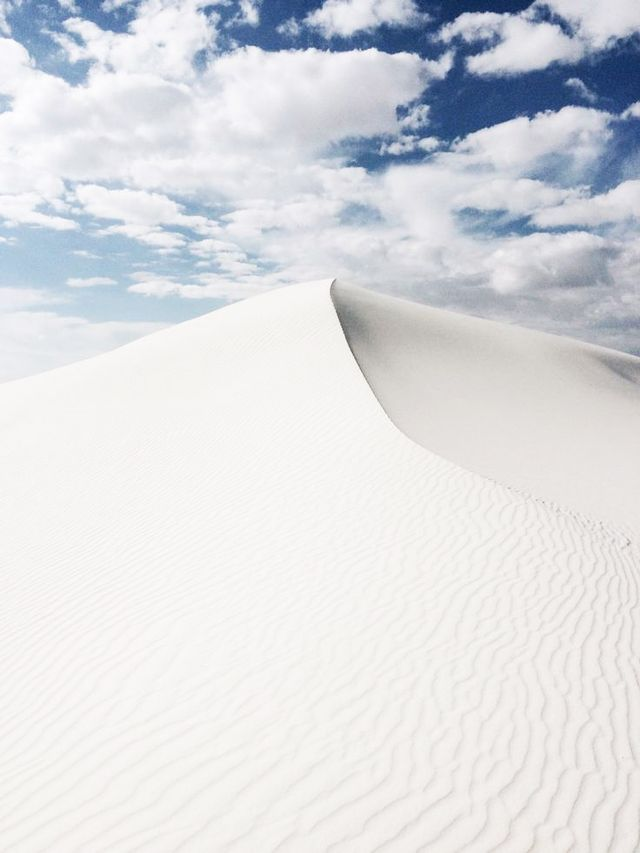 The pristine, gypsum-rich sand dunes of White Sands National Monument in New Mexico make for some truly otherworldly landscapes.  Location: White Sands National Monument, New Mexico