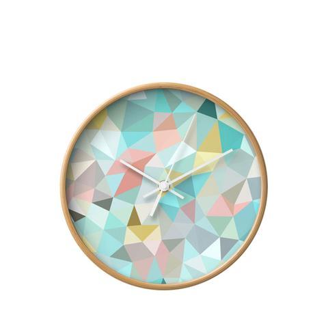 Springtime Geometry Wall Clock