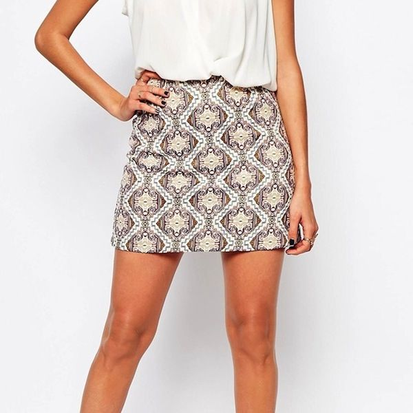 River Island Jacquard Mini Skirt