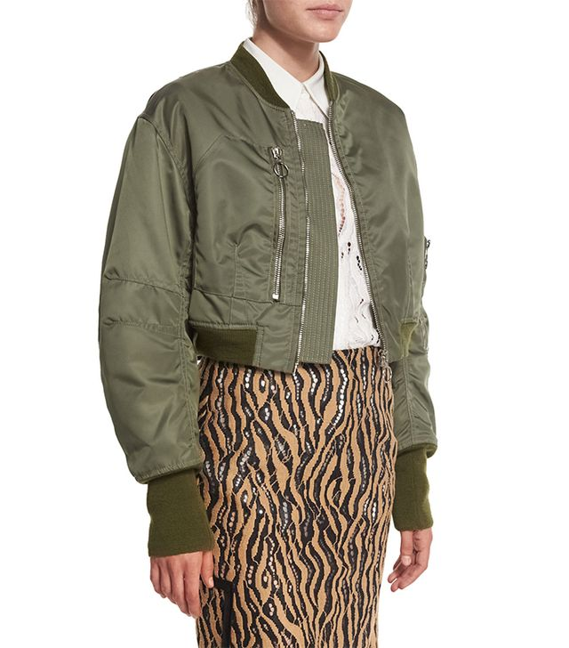 3.1 Phillip Lim Cropped Flight Jacket