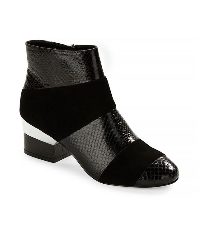 Isa Tapia Hardy Embossed Suede Booties