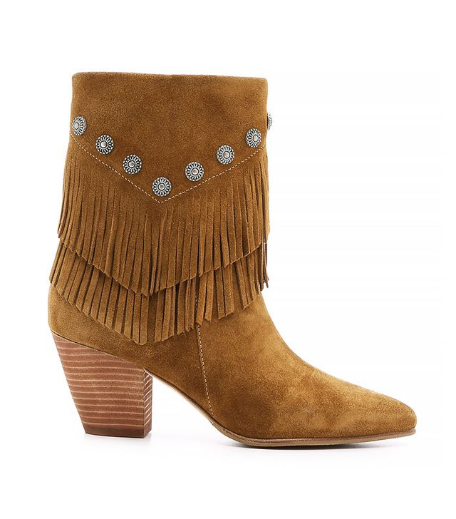 Belle by Sigerson Morrison Yardley Suede Fringe Booties