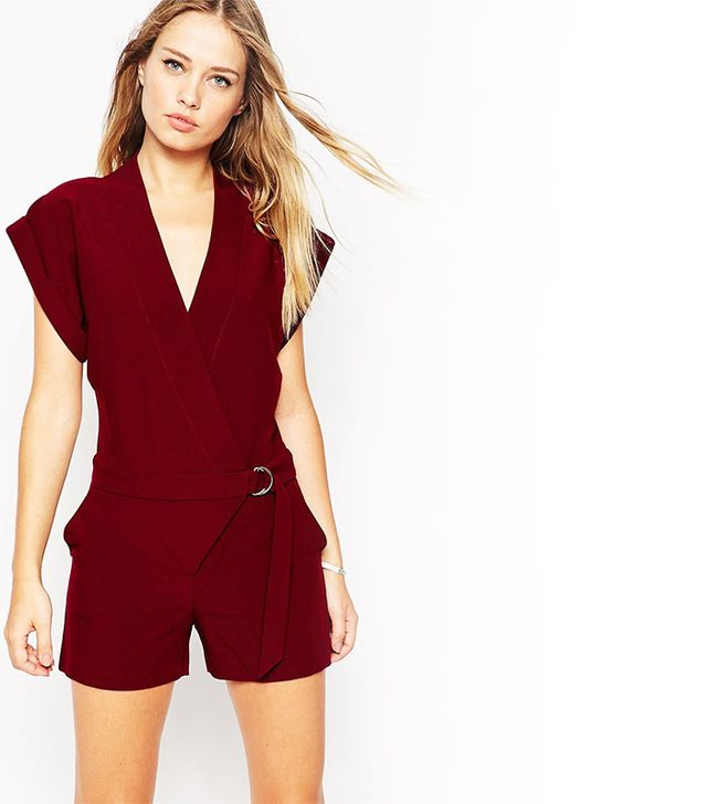 ASOS Wrap Front Romper With D-Ring
