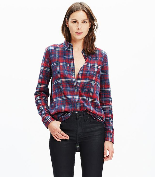 Madewell Flannel Ex-Boyfriend Shirt in Bainbridge Plaid