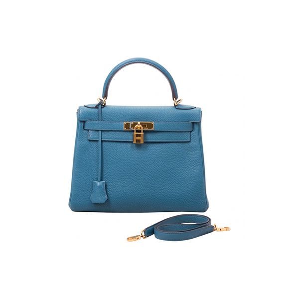 Hermès Blue Leather Handbag Kelly