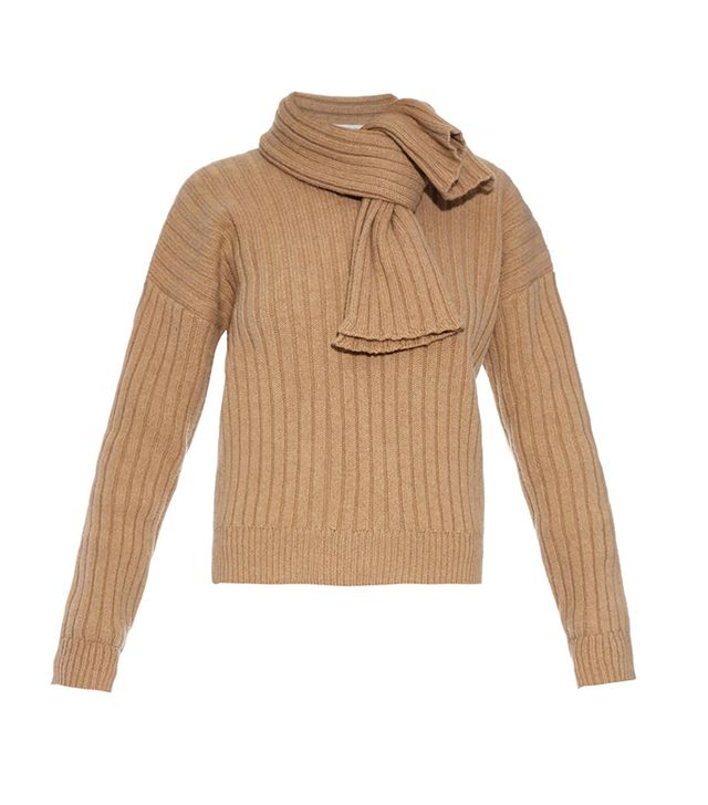 J.W. Anderson Neck-Tie Ribbed-Knit Sweater