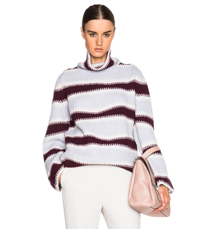 Kenzo Abstract Striped Wool Sweater