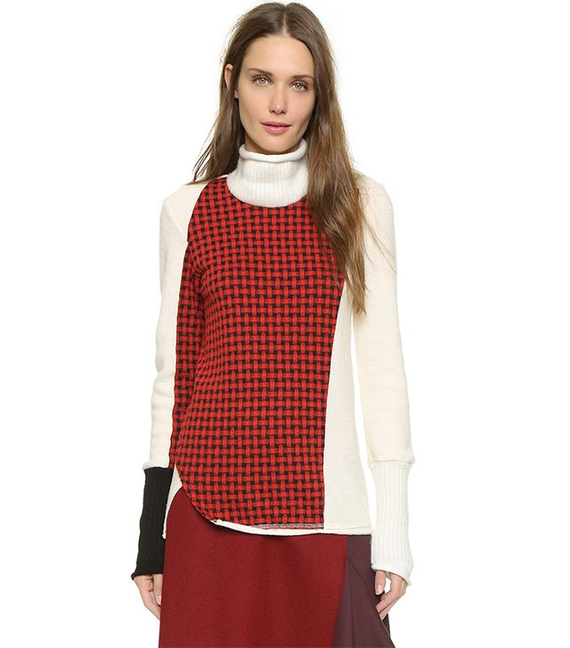 3.1 Phillip Lim Collage Turtleneck