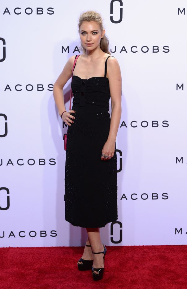 WHO: Imogen Poots  WHAT: Marc Jacobs S/S 16 show  WEAR: Brian Atwood heels.