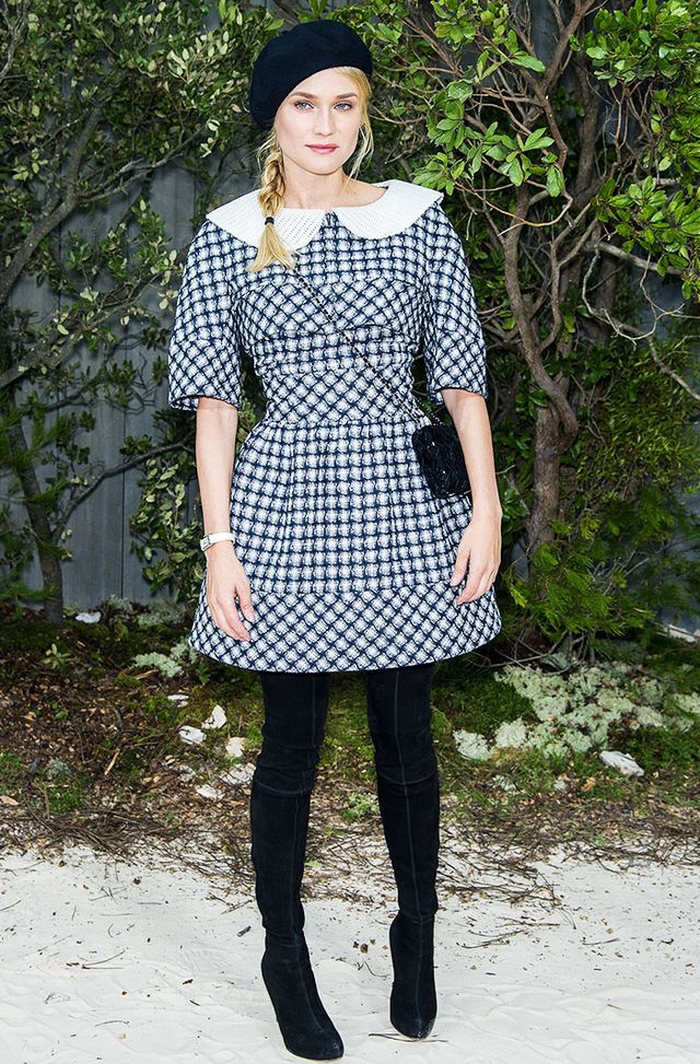 Diane Kruger has been spotted in numerous berets over the years, giving us plenty of inspiration on how to wear the hat.