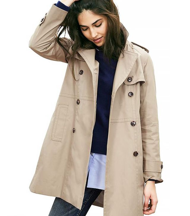 Banana Republic Double-Breasted Trench Coat