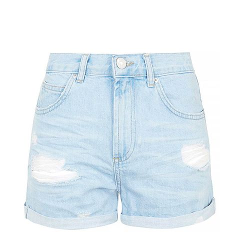 Moto Bright Blue Ripped Rosa Shorts