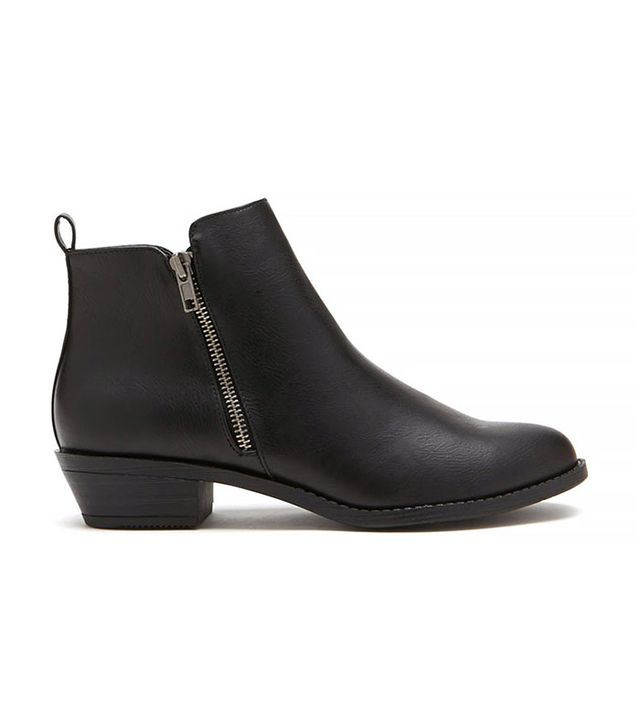Forever 21 Zippered Ankle Booties