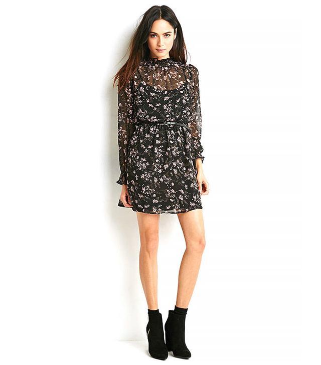 Forever 21 Chiffon High-Neck Dress