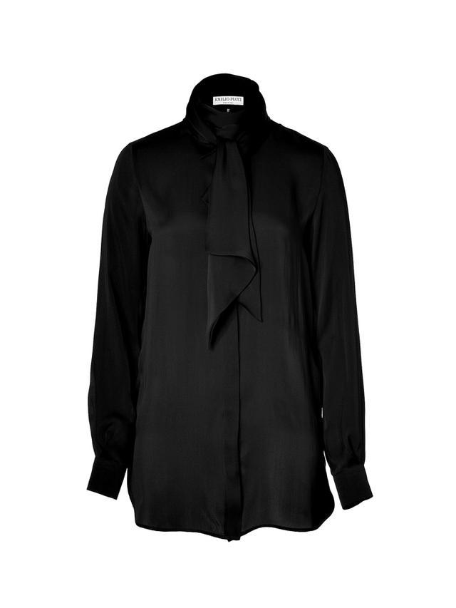Emilio Pucci Tie-Neck Silk Blouse