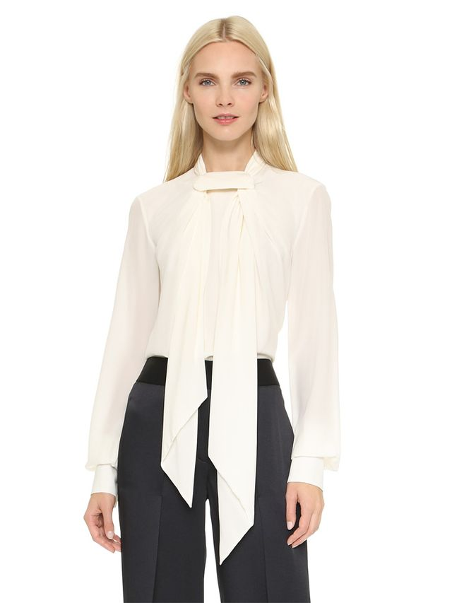 Jason Wu Silk Scarf Blouse