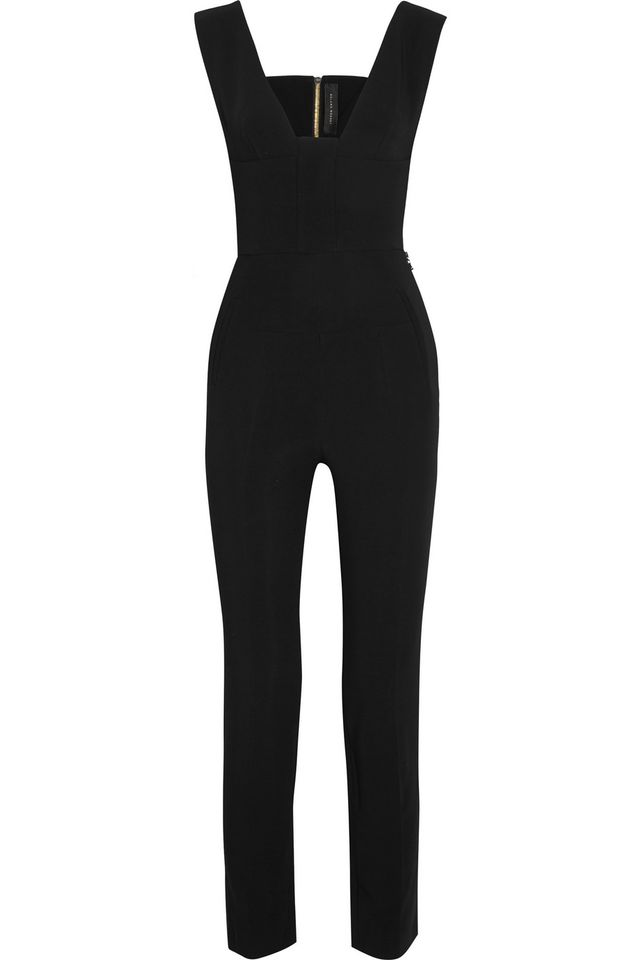 Roland Mouret Cutout Stretch-Crepe Jumpsuit