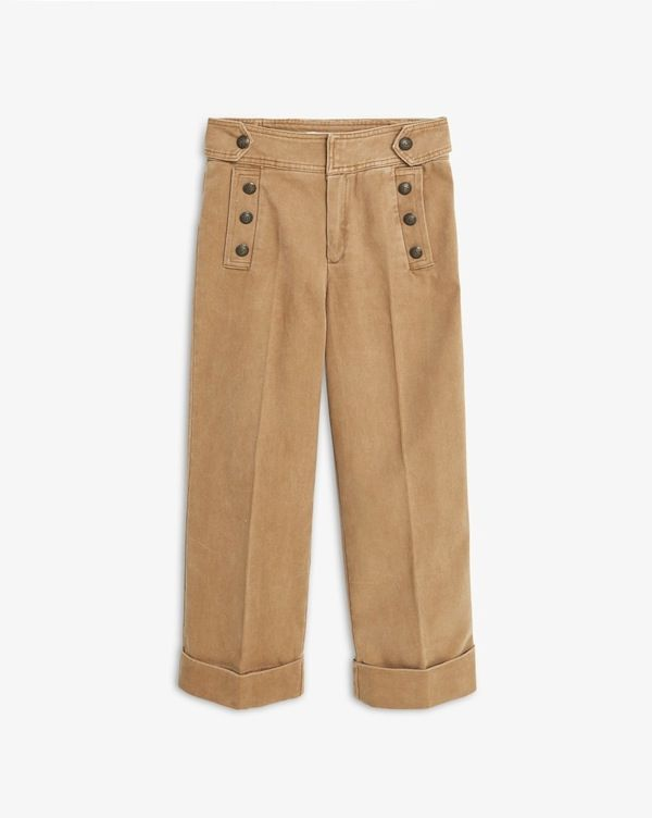 Mango Buttoned Trousers