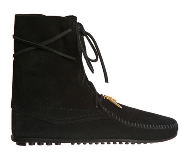Minnetonka x Maje Minnetonka x Maje Boheme Lace-Up Boot, Black