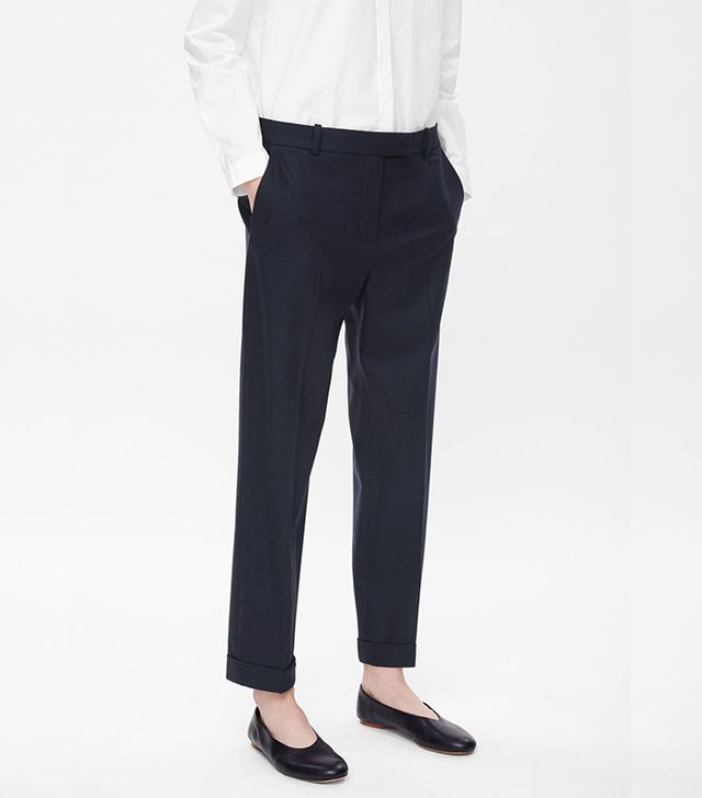 COS Straight-Leg Wool Trousers
