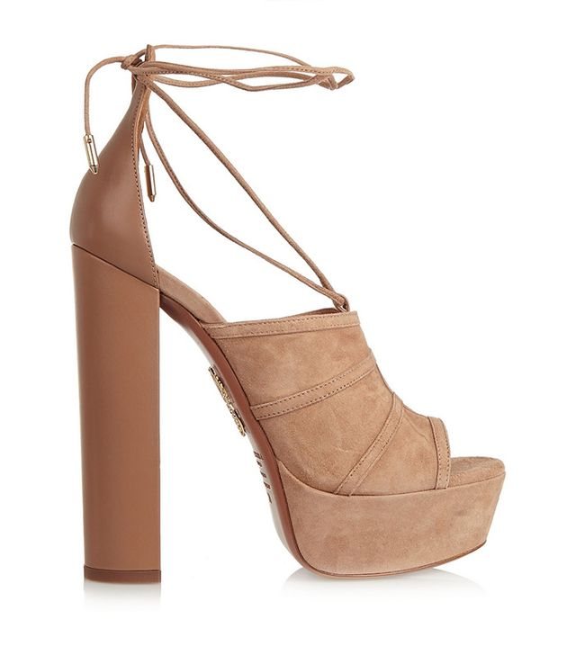 Aquazarra Very Eugenie Suede and Leather Sandals