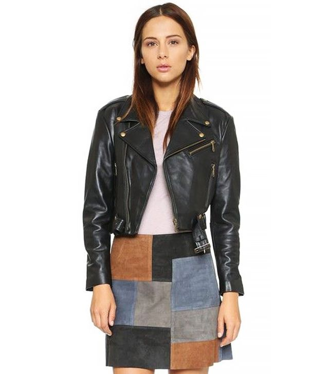 Rebecca Minkoff Harpur Leather Moto Jacket