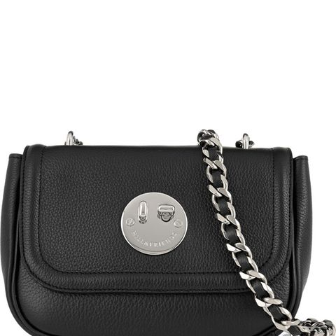 Happy Chain Textured-Leather Shoulder Bag
