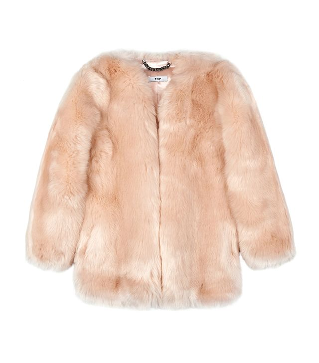 Thpshop Baby Pink Boxy Coat