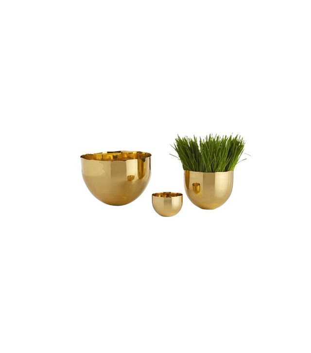 Arteriors Stockholm Polished Brass Bowls Set of 3