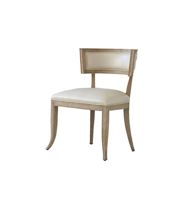 Klismos Cowhide Leather Side Chair
