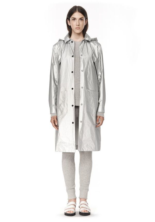 Alexander Wang Laminated Coat With Detachable Hood