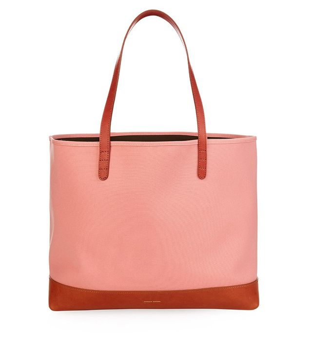 Mansur Gavriel Large Canvas and Leather Tote