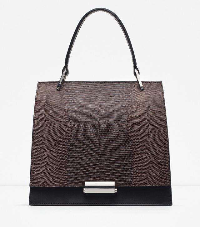 Zara Mini Embossed City Bag