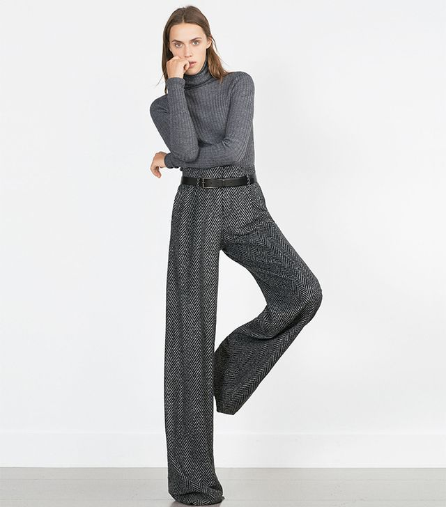 Zara Herringbone Trousers