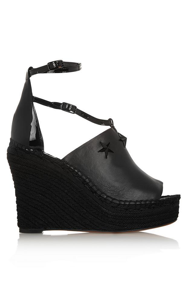 Givenchy Embellished Espadrille Wedge Sandals