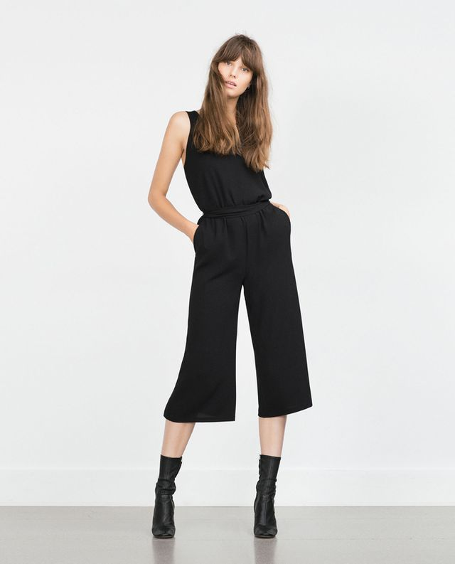 Zara Cropped Jumpsuit