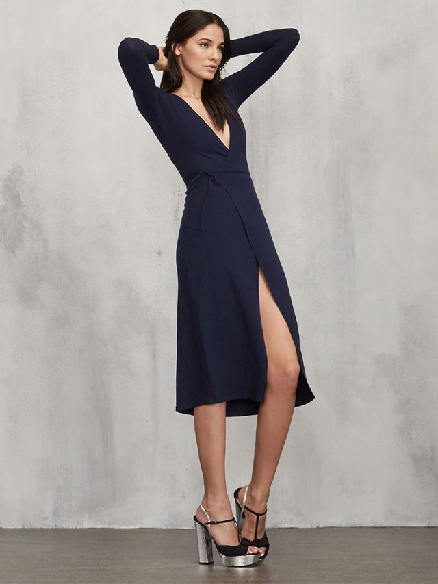 Reformation Cyan Dress in Navy