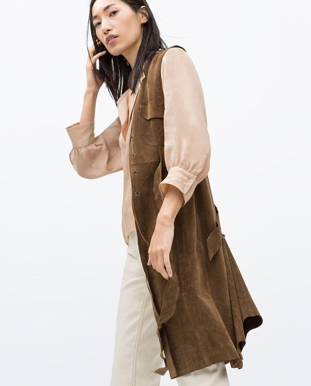 Zara Suede Studio Waistcoat