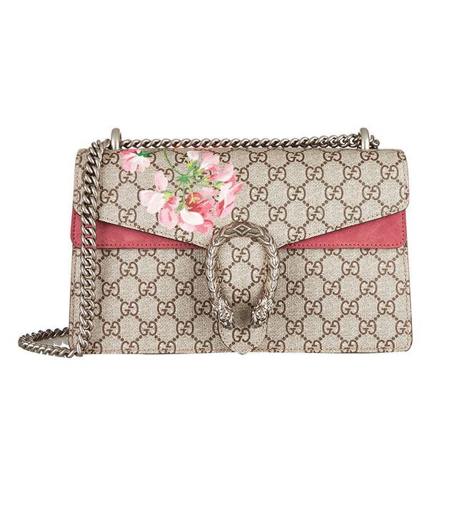 Gucci Dionysus Blooms Coated Canvas and Suede Shoulder Bag