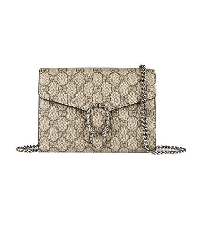 Gucci Dionysus Coated Canvas and Leather Shoulder Bag