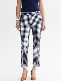 Banana Republic Mad Men Collection Hampton-Fit Gingham Crop Pants