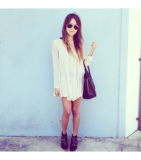 Sincerelyjules is wearing: One Teaspoon dress, Modern Vice boots, Celine bag.