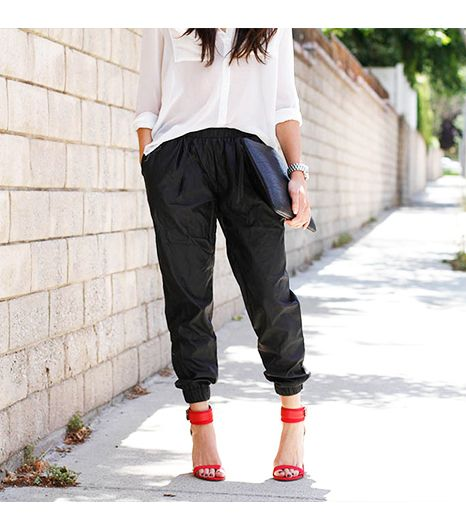 Caseyscollection is wearing: Urban Outfitters pants, Zara heels.