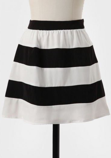 Ruche Love Of Mine Striped Miniskirt
