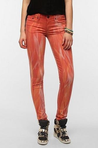 THVM Mid-Rise Skinny Jean Poppy Tie-Dye