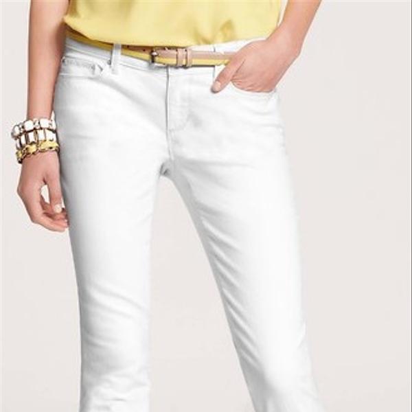Ann Taylor Modern Cropped Denim Jeans