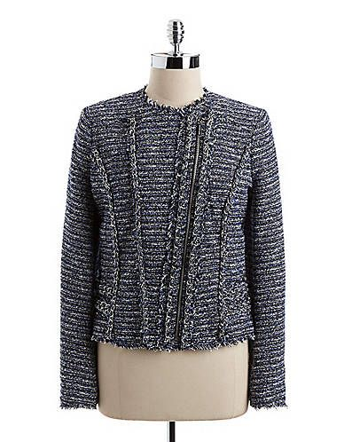 MICHAEL Michael Kors Tweed Moto Jacket