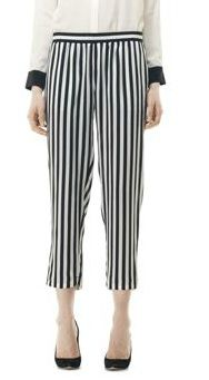 Club Monaco Patricia Striped Silk Pant