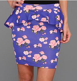 Gabriella Rocha Luce Floral Scuba Peplum Skirt