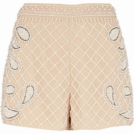 River Island  Embellished Pattern Smart Shorts